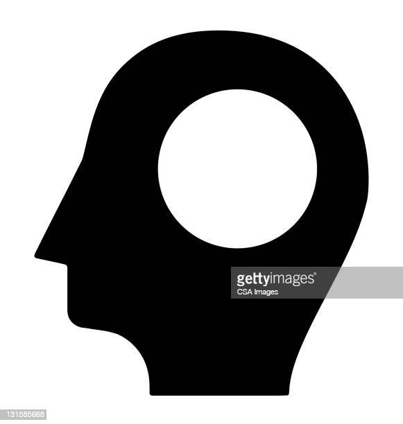 profile with hole in head - adult stock illustrations