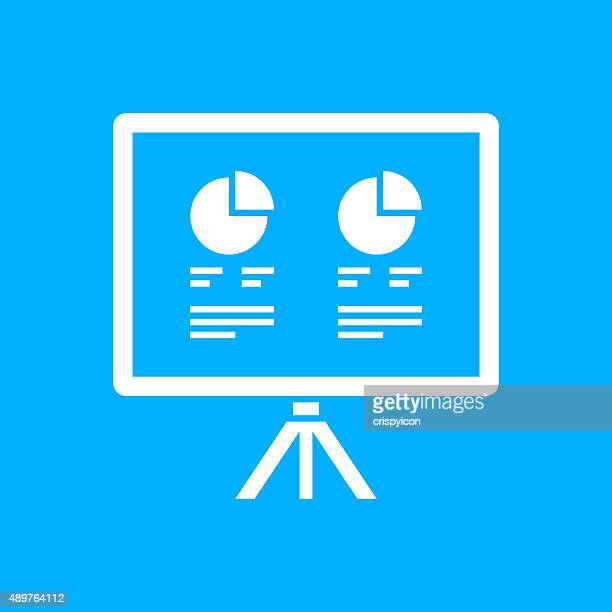 Projection Screen icon on a blue background. - Smooth Series