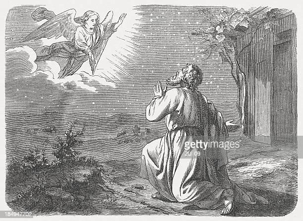 ilustrações, clipart, desenhos animados e ícones de promessa para abram (genesis 15, 5 - religião