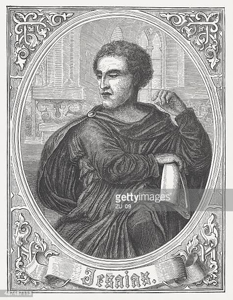 Prophet Isaiah, by Michelangelo Buonarroti, wood engraving, published in 1868