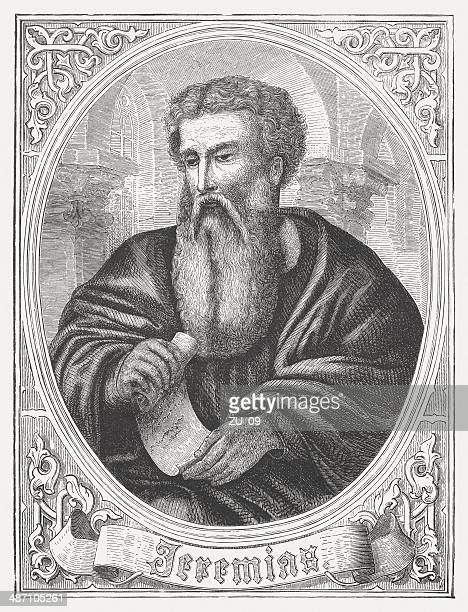 Prophet Jeremiah, wood engraving, published in 1868