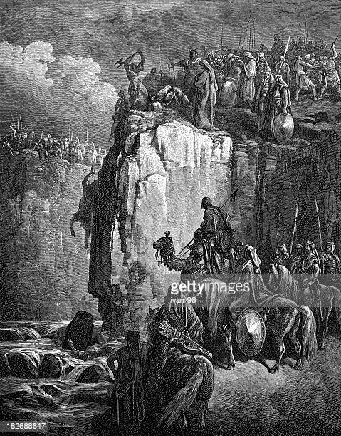prophets of baal - cult stock illustrations