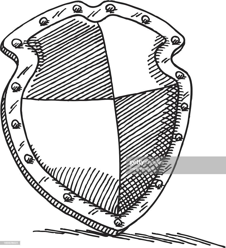 Schutz Shield Zeichnung : Stock-Illustration