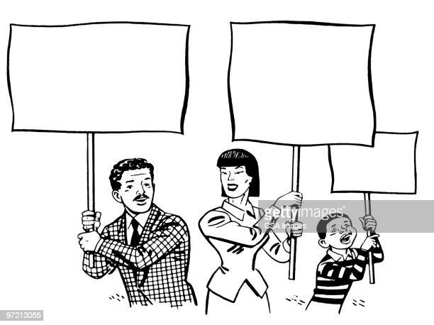 protesters - protestor stock illustrations, clip art, cartoons, & icons