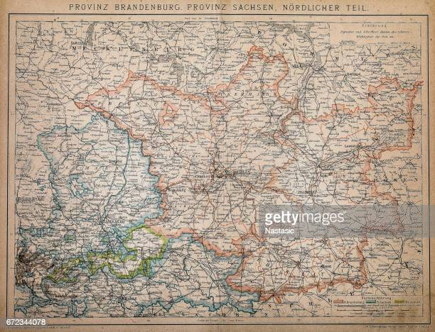 province of brandenburg, province of saxony, northern part - country geographic area stock illustrations, clip art, cartoons, & icons