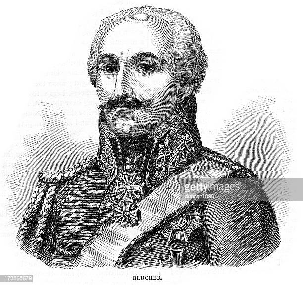 illustrations, cliparts, dessins animés et icônes de prussien field maréchal blücher - guerres napoléoniennes