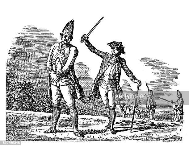 prussian military , how an honest man receives a beating - slapping stock illustrations, clip art, cartoons, & icons