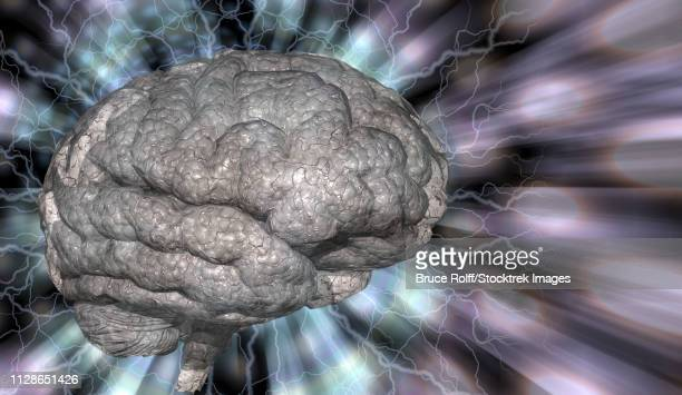 Psychedelic background brain