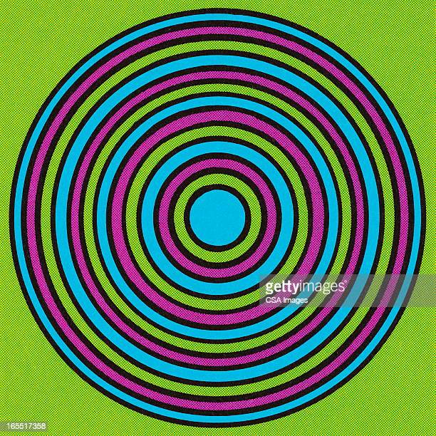 psychedelic circle - sports target stock illustrations