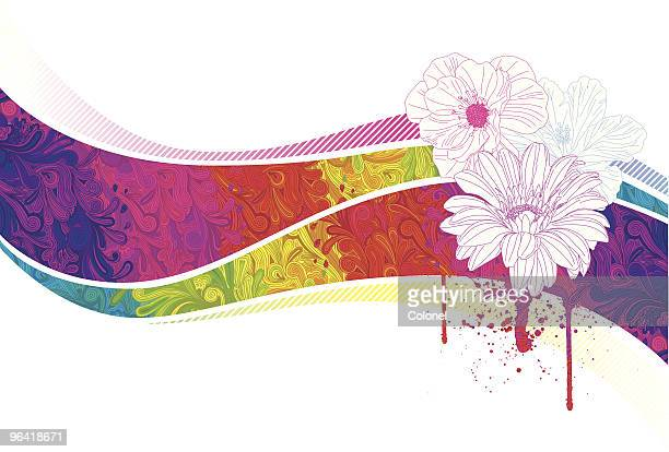 psychedelic flowers - paisley pattern stock illustrations, clip art, cartoons, & icons