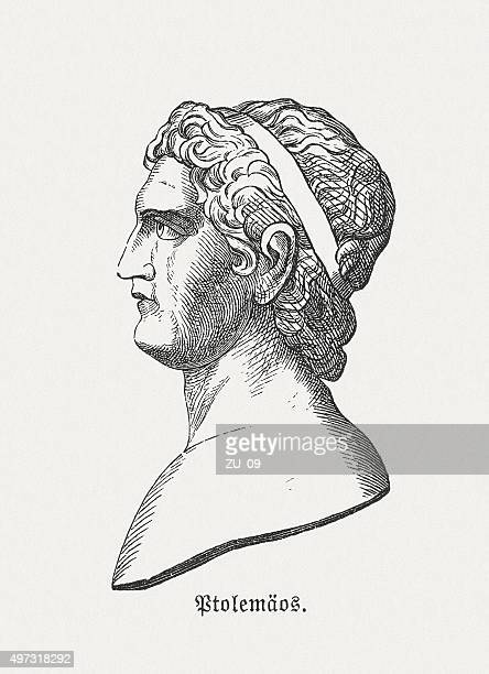 ptolemy i (also ptolemy lagides), published in 1882 - classical greek stock illustrations, clip art, cartoons, & icons