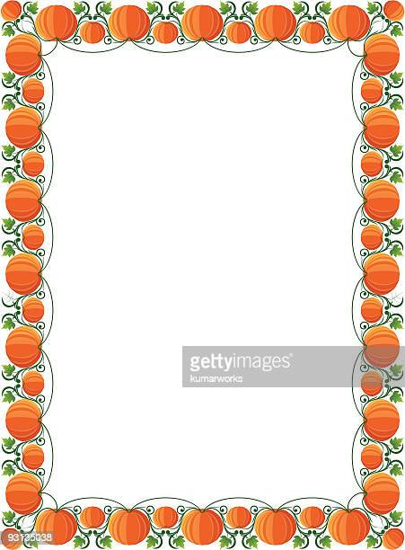 pumpkin rectangle frame - rectangle stock illustrations