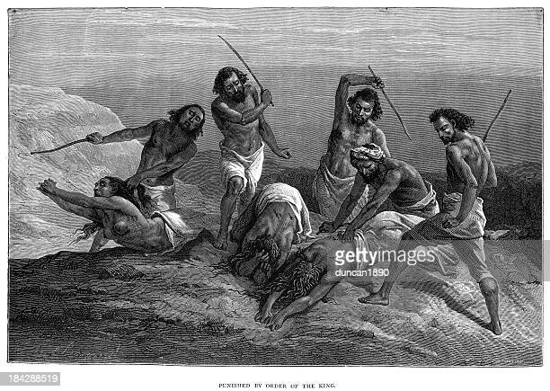 punished by order of the king - ethiopia stock illustrations, clip art, cartoons, & icons
