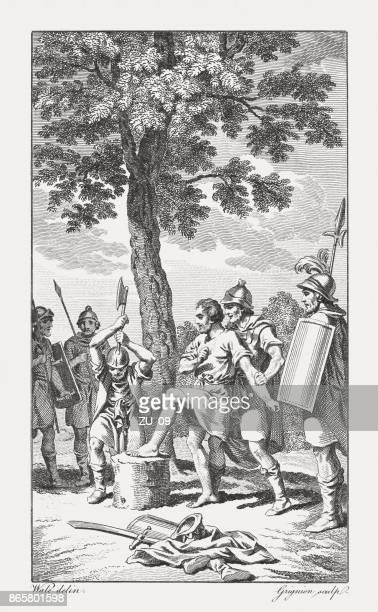 Castigo de Adoni-bezec por los judíos (1 jueces), publicó 1774