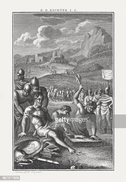 Castigo de Adoni-bezec por los judíos (jueces 1), publicó c.1850