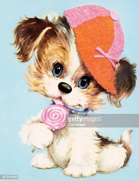 puppy - terrier stock illustrations