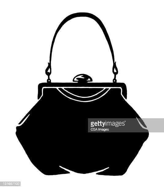 purse - handle stock illustrations, clip art, cartoons, & icons