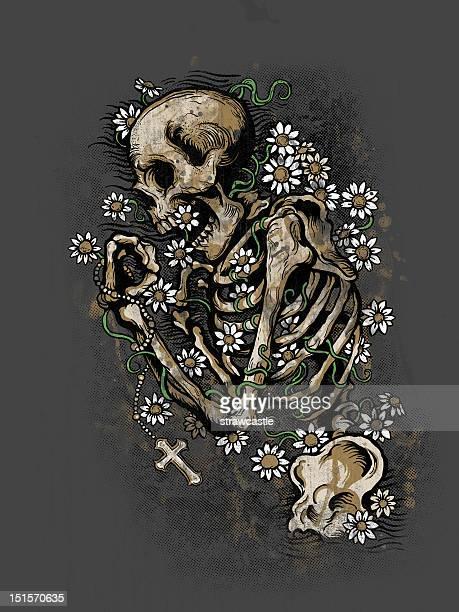 pushing daisies - death stock illustrations