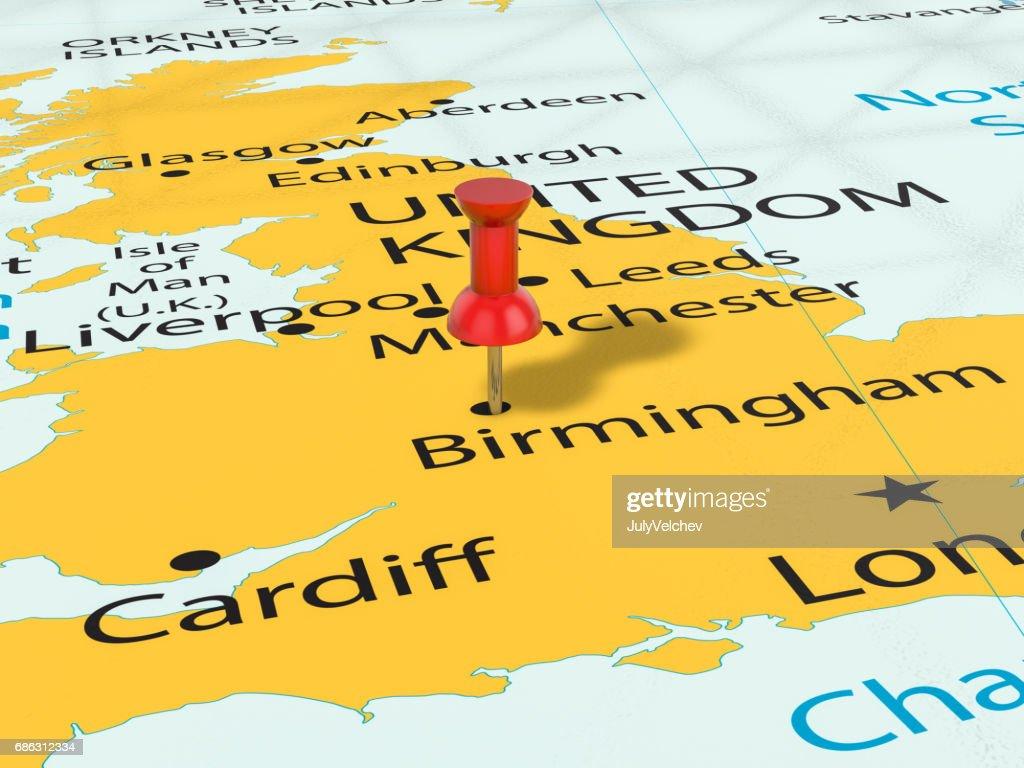 Birmingham Karte.Pin Auf Birmingham Karte Stock Illustration Getty Images