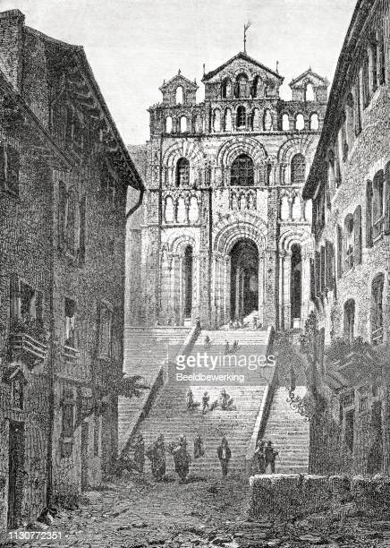 puy cathedral illustration 1873 'the Earth and her People'