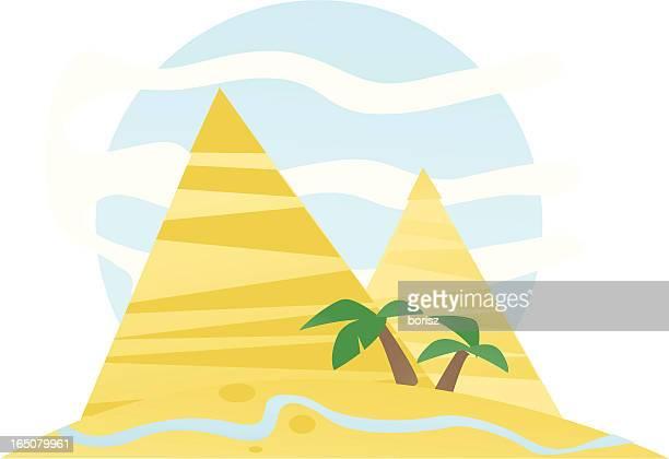 pyramids - nile river stock illustrations, clip art, cartoons, & icons
