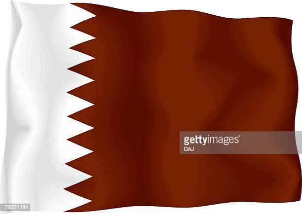qatari flag - qatar stock illustrations, clip art, cartoons, & icons