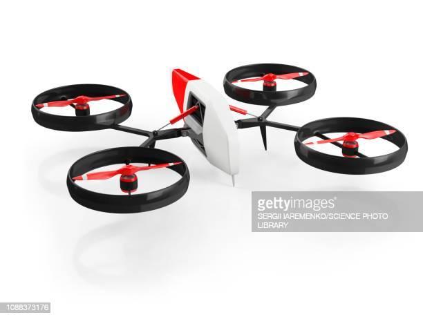 ilustraciones, imágenes clip art, dibujos animados e iconos de stock de quadcopter drone, illustration - drone