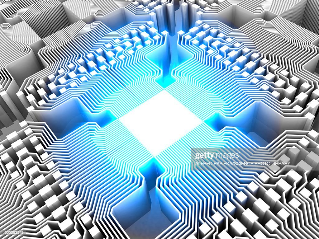 Quantum Computer Electronic Circuitry Stock Illustration Getty Images Circuits Explained