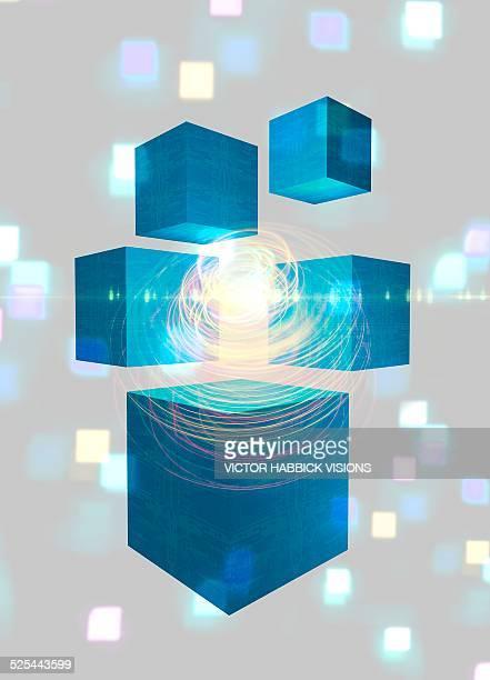 quantum mechanics, artwork - quantum physics stock illustrations