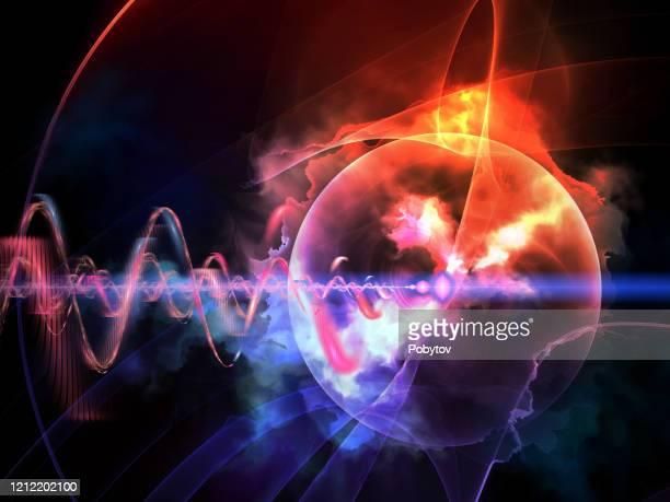 quantum universe, futuristic abstract background - quantum physics stock illustrations