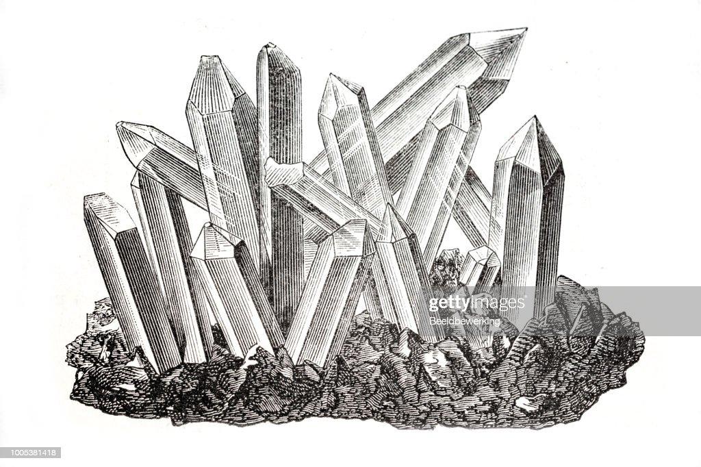 Quartz cristal : stock illustration