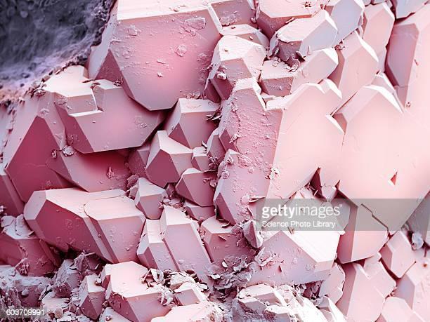 Quartz crystals, SEM