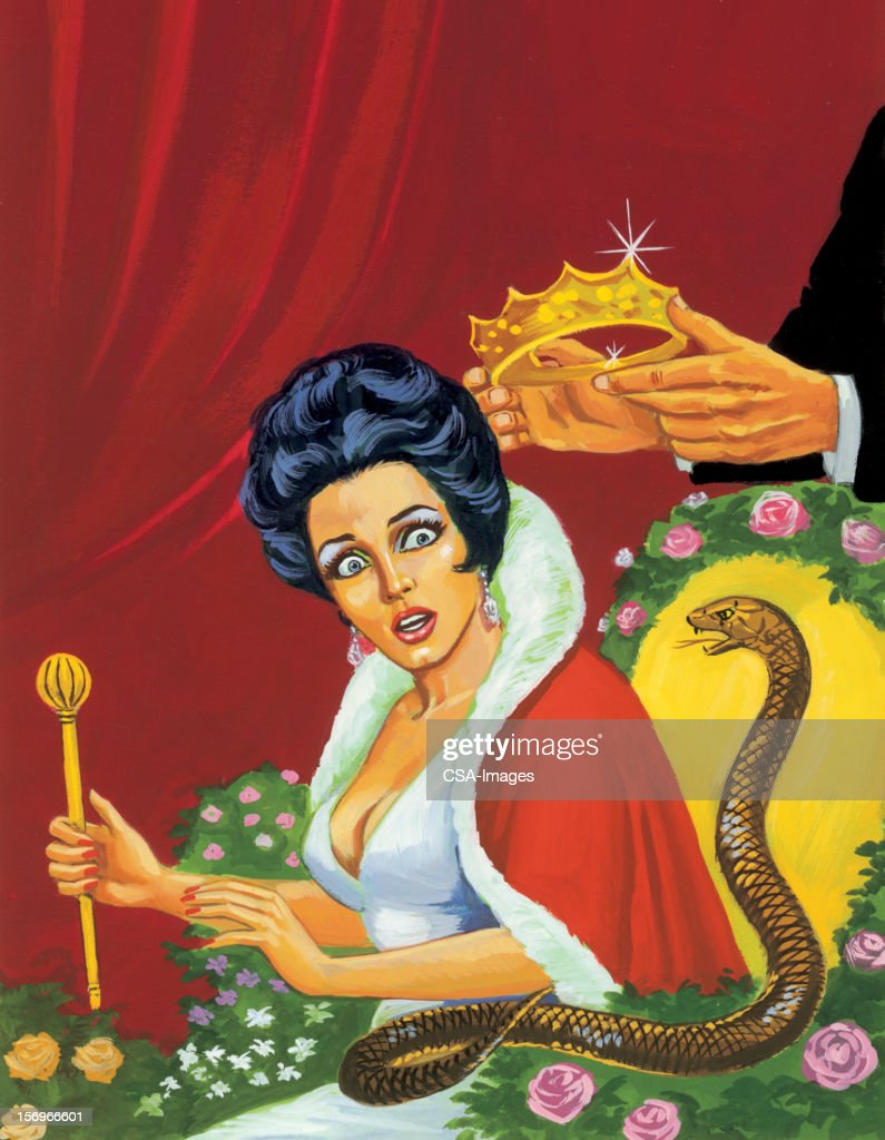 Queen and Snake : stock illustration
