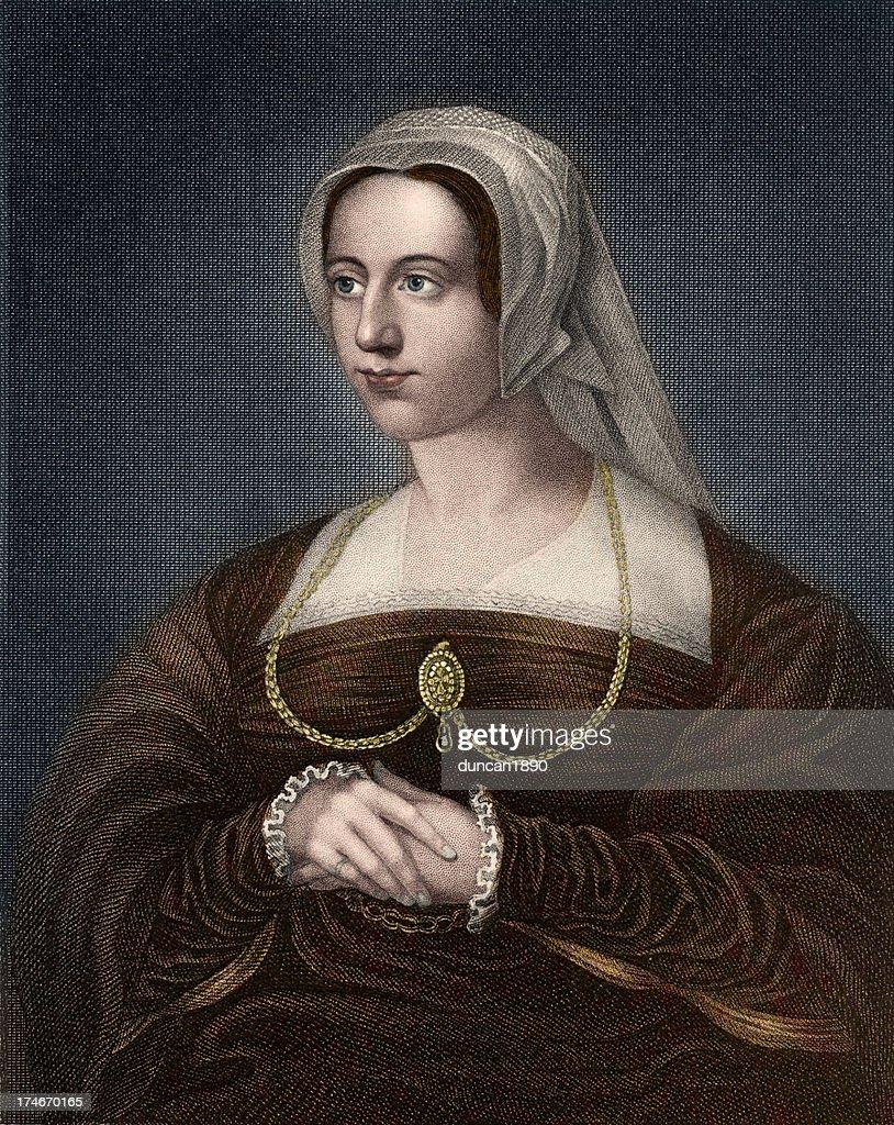 Queen Catherine Parr : stock illustration