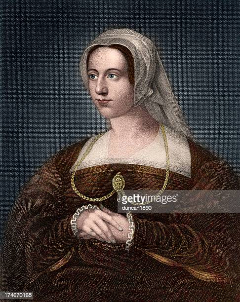 queen catherine parr - en búsqueda stock illustrations
