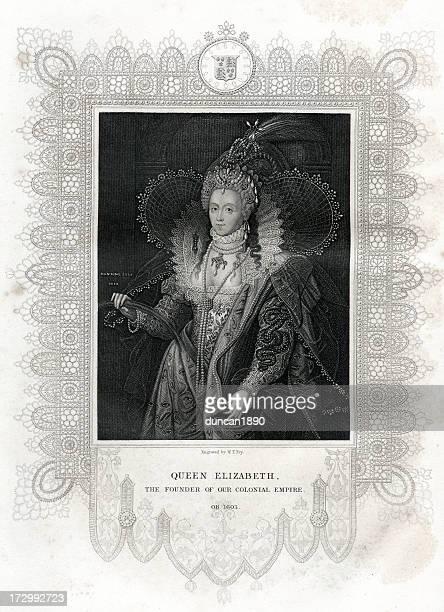 queen elizabeth i - queen royal person stock illustrations, clip art, cartoons, & icons