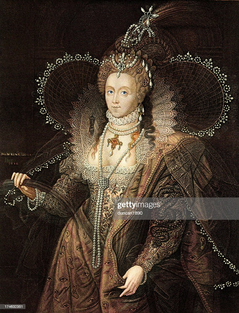 Queen Elizabeth I : stock illustration