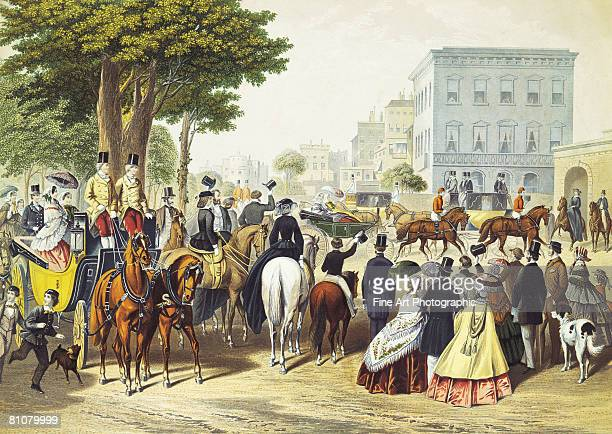 queen in hyde park - large group of people stock illustrations
