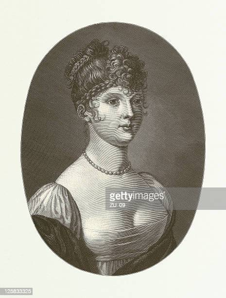 Queen Louise of Prussia (1776-1810), wood engraving, published in 1881