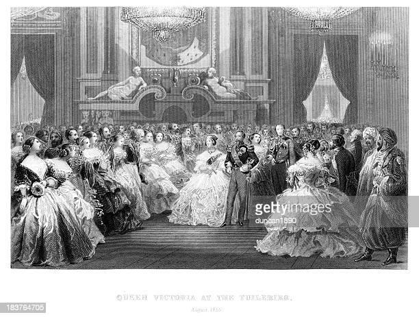 ビクトリア女王、ナポレオン 3 世 - 舞踏会点のイラスト素材/クリップアート素材/マンガ素材/アイコン素材
