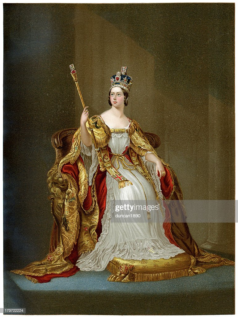 Queen Victoria in 1837 : stock illustration