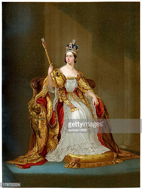 queen victoria in 1837 - queen royal person stock illustrations