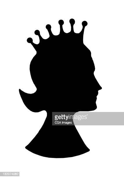 ilustraciones, imágenes clip art, dibujos animados e iconos de stock de queen wearing crown - reina de belleza