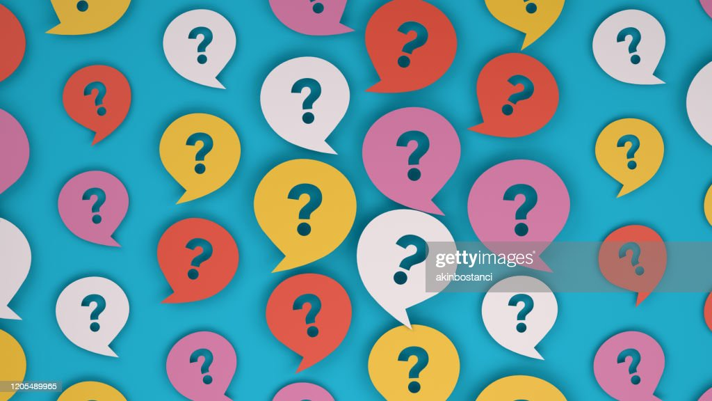 Question Mark on Speech Bubble : Stock Illustration