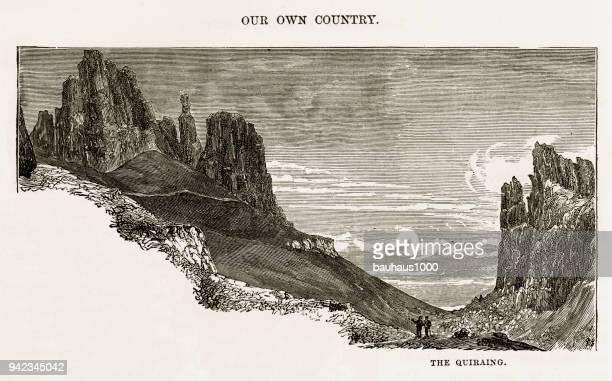 ウラプール、ヘブリディーズ諸島、スコットランド ビクトリア朝の彫刻、1840 のスカイ島