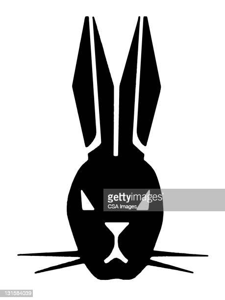 rabbit head - lagomorphs stock illustrations