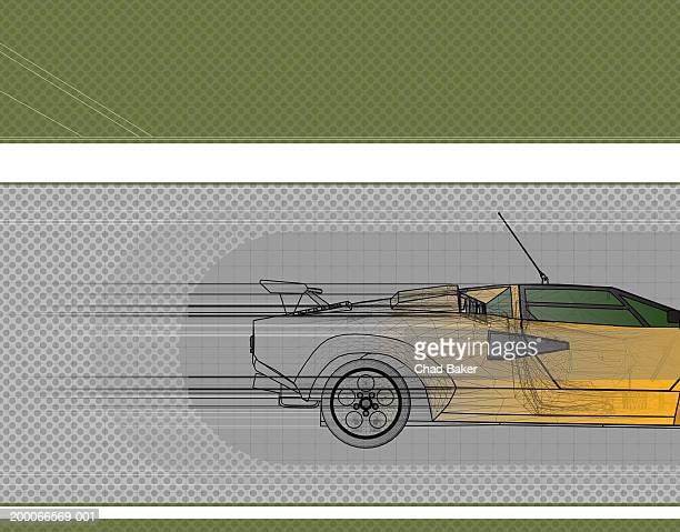 race car, side view - domestic car stock illustrations, clip art, cartoons, & icons