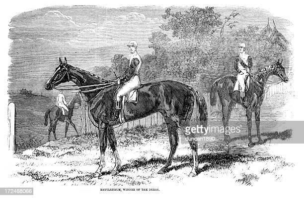 race horse -ケトルドラム - named animal点のイラスト素材/クリップアート素材/マンガ素材/アイコン素材