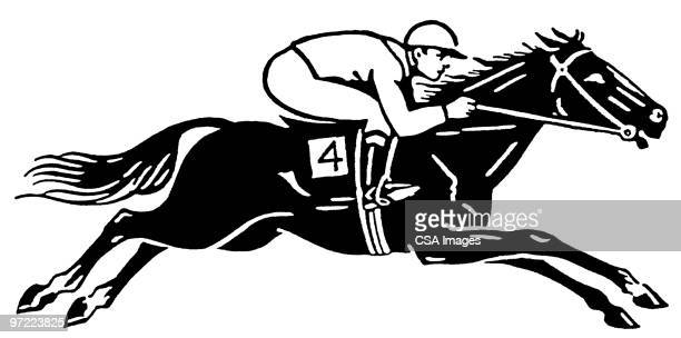 racehorse - racehorse stock illustrations