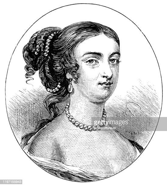 rachel russell, lady russell - 17th century - authors stock illustrations